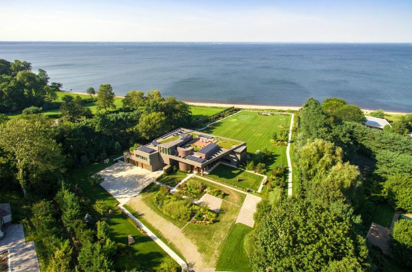 Contemporary Waterfront Mansion In Sands Point, NY Re-Listed For $29 Million