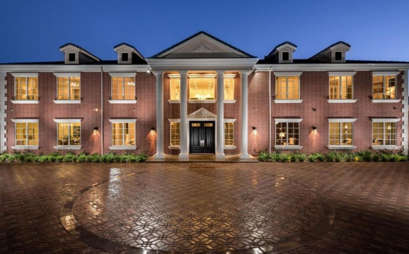 11,000 Square Foot Newly Built Brick Colonial Mansion In Bradbury, CA