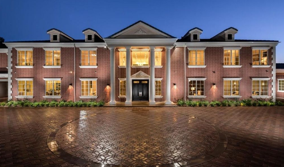 11,000 Square Foot Newly Built Brick Colonial Mansion In Bradbury, CA