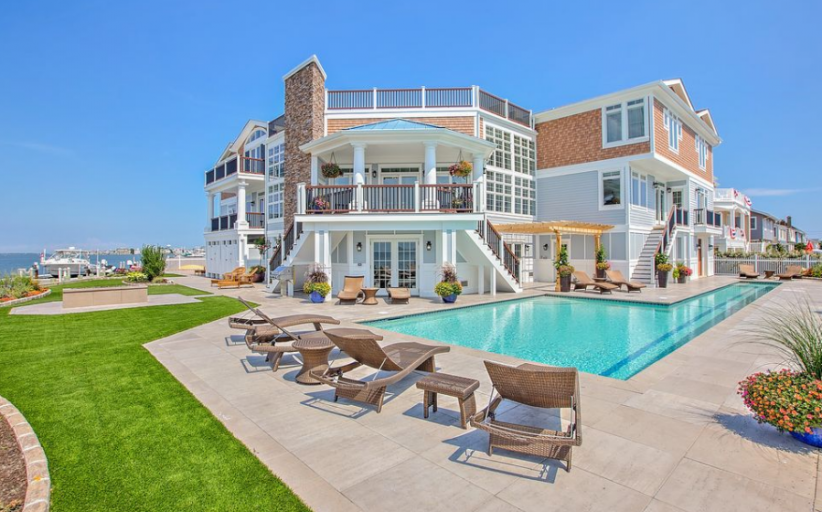 10,000 Square Foot Newly Built Waterfront Mansion In Brant Beach, NJ