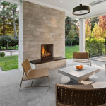 Covered Patio w/ Fireplace