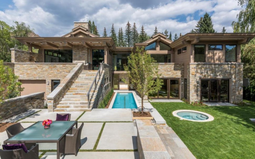 $9.995 Million Newly Built Wood & Stone Home In Ketchum, ID