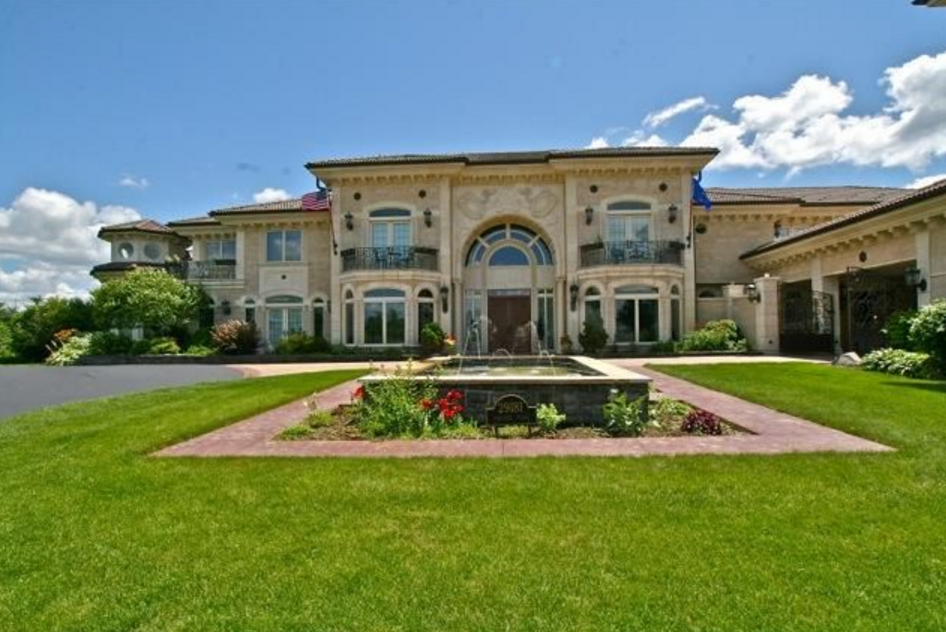 17 000 Square Foot European Inspired Stone Mansion In