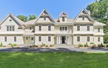 $3.695 Million Newly Built Colonial Shingle Mansion In New Canaan, CT
