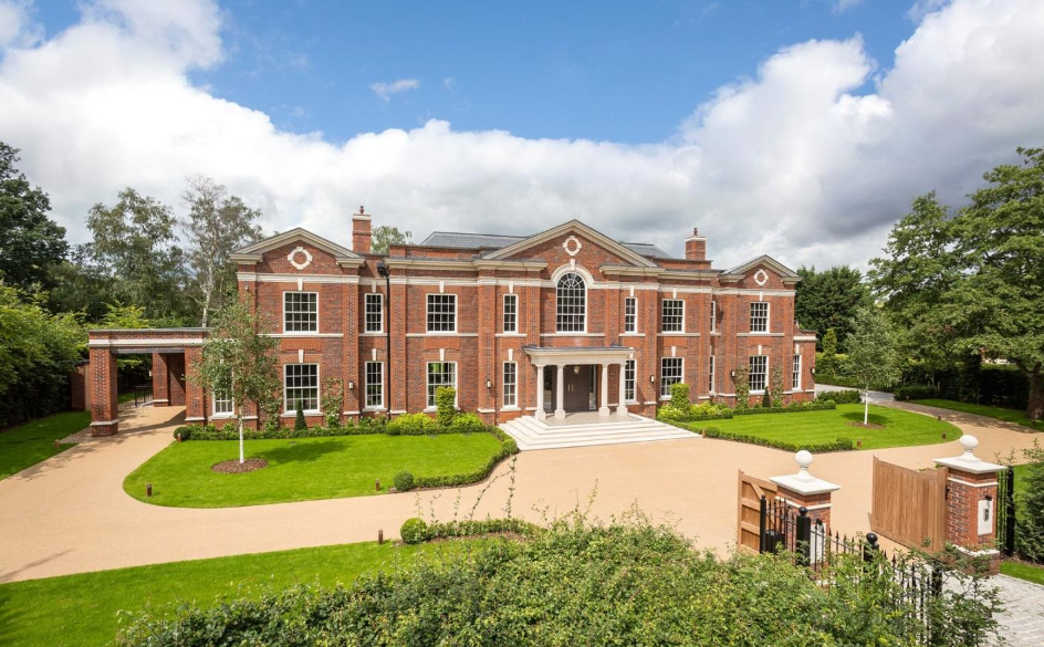 Kings Chase – A 12,000 Square Foot Newly Built Brick Mansion In Surrey, England