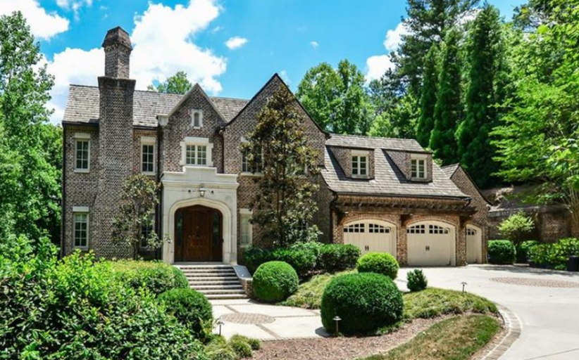 $3.395 Million English Manor Inspired Brick Home In Atlanta, GA
