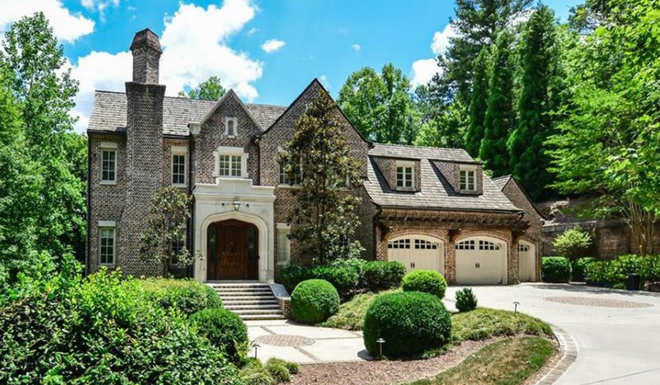 $3.395 Million English Manor Inspired Brick Home In Atlanta, GA
