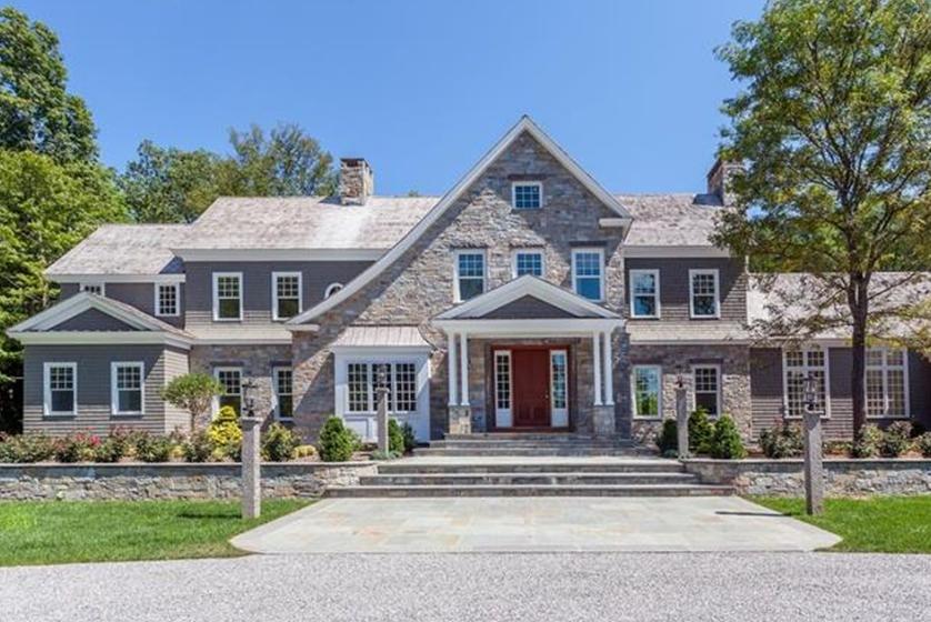 $6.9 Million Newly Built Stone & Shingle Mansion In Washington, CT