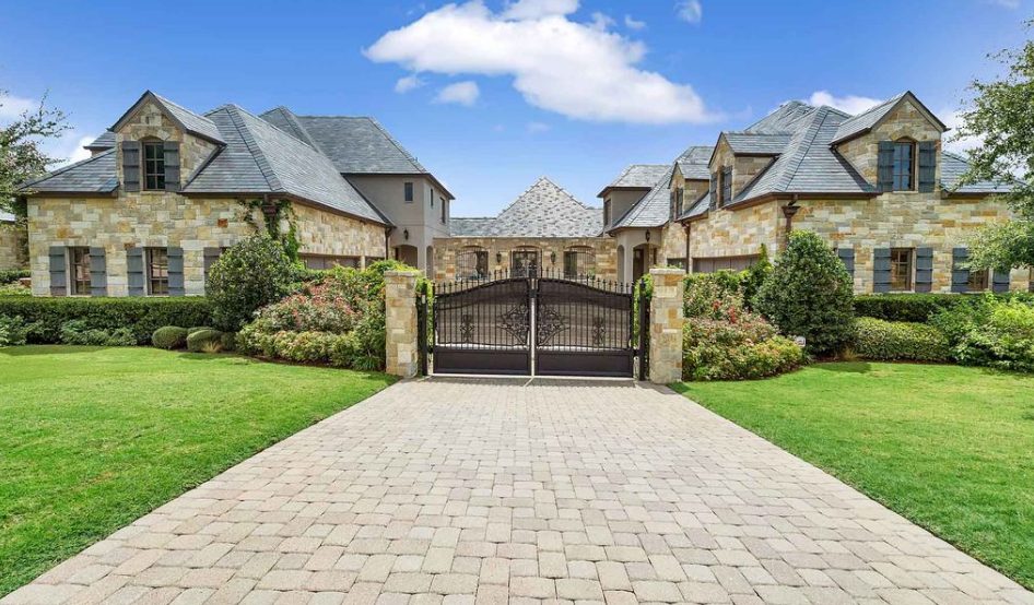 10,000 Square Foot Stone & Brick Mansion In Fort Worth, TX