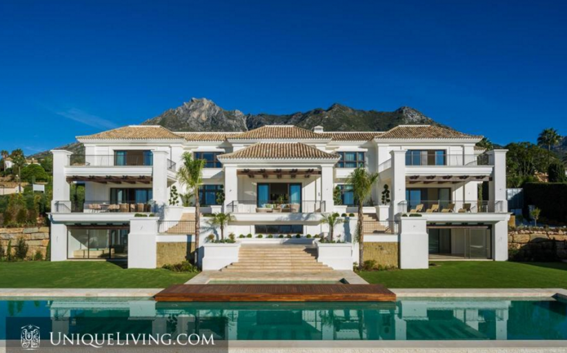 19,000 Square Foot Newly Built Mansion In Marbella, Spain
