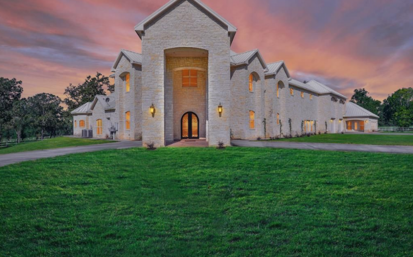 14,000 Square Foot Stone Mansion In Montgomery, TX