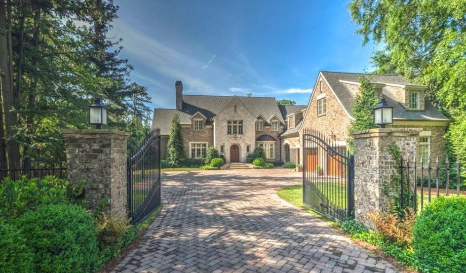 $2.895 Million Brick & Stone Mansion In Atlanta, GA
