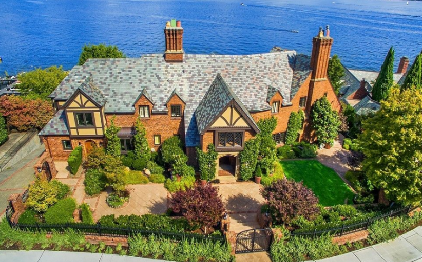 $14 Million Historic Lakefront Mansion In Seattle, WA