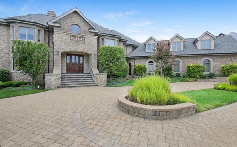 10,000 Square Foot Brick & Stone Mansion In Burr Ridge, IL