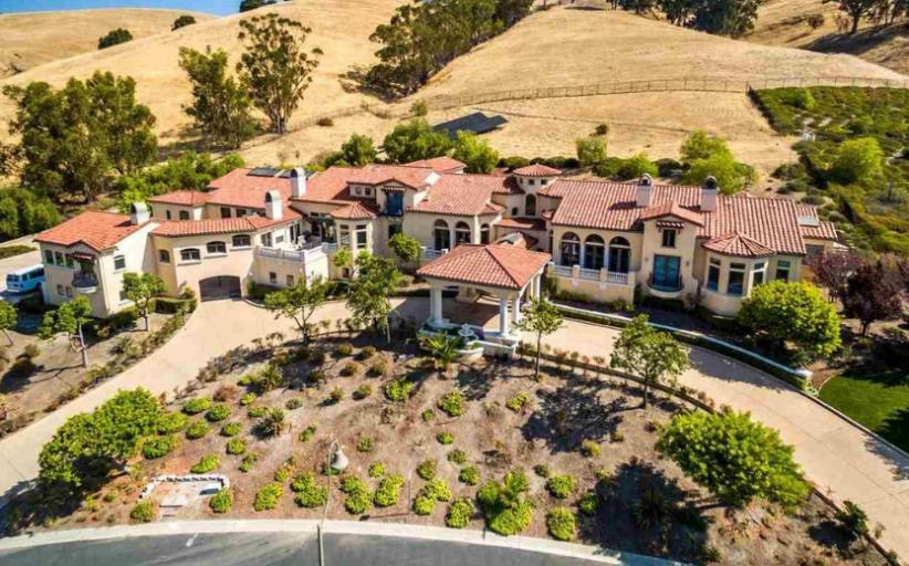 13,000 Square Foot Mediterranean Mansion In Fremont, CA