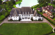 14,000 Square Foot Lakefront French Mansion In Richmond, TX