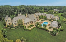 20,000+ Square Foot French Inspired Mega Mansion In Saddle River, NJ Re-Listed