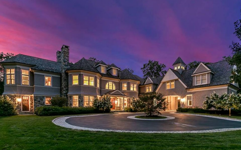 15,000 Square Foot Shingle Mansion In New Canaan, CT