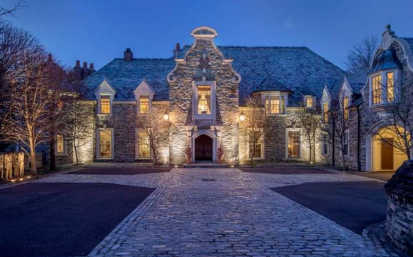 Westbourne Woods – A 14,000 Square Foot Stone Mansion In Gladwyne, PA