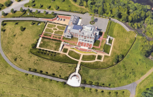 Aerial Pics Of A 50,000 Square Foot Mountaintop Mega Mansion In Connecticut