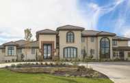 $3.1 Million Newly Built Stucco Mansion In Overland Park, KS