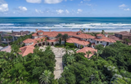 12,000 Square Foot Mediterranean Oceanfront Mansion In Ponte Vedra Beach, FL