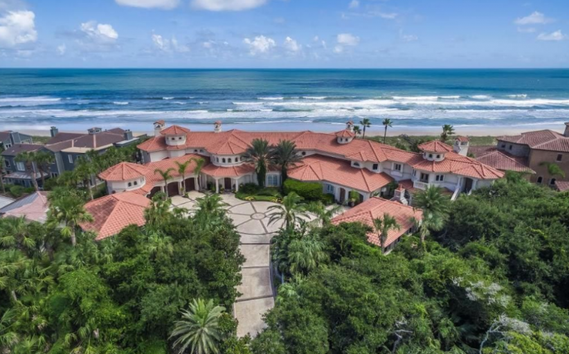 12,000 Square Foot Mediterranean Oceanfront Mansion In Ponte Vedra Beach, FL