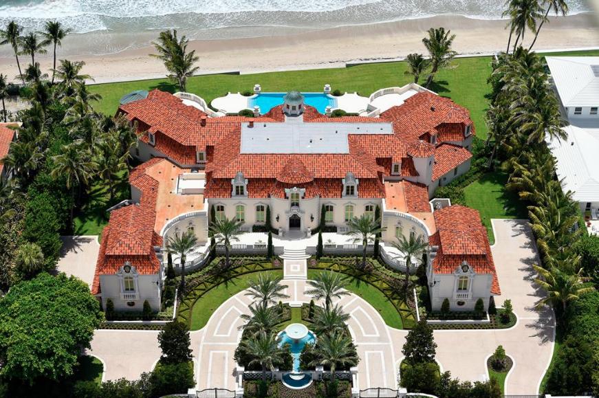 35 000 square foot mediterranean oceanfront mega mansion for Mega mansions in florida