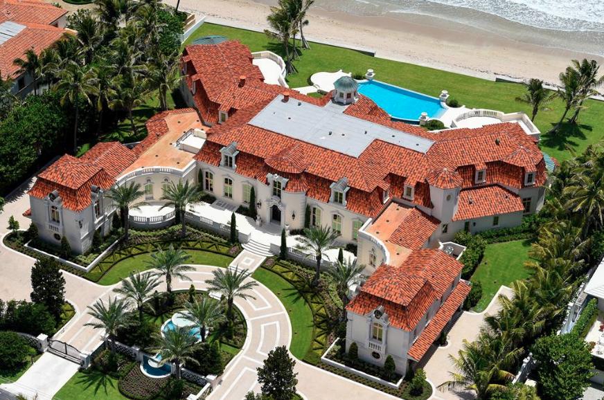 35 000 square foot mediterranean oceanfront mega mansion for Mega mansion for sale
