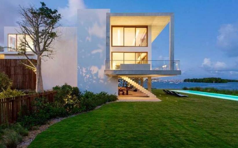 $50 Million Newly Built Modern Waterfront Mansion In Miami, FL