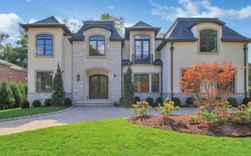 $3.489 Million Newly Built Stone & Stucco Home In Englewood Cliffs, NJ