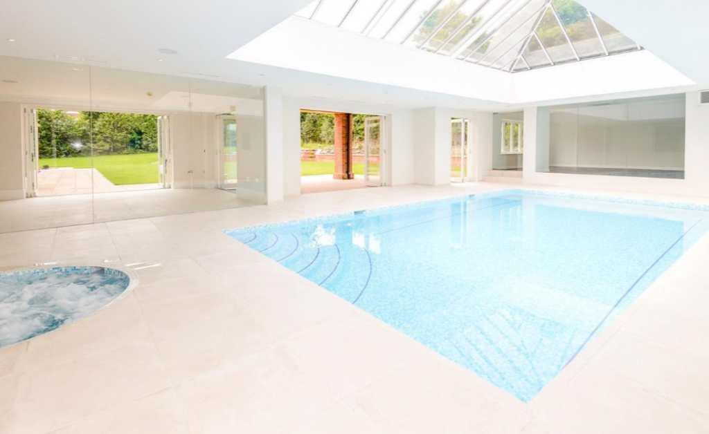 11 000 square foot newly built brick mansion in surrey for Average square footage of a swimming pool
