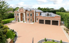 11,000 Square Foot Newly Built Brick Mansion In Surrey, England (FLOOR PLANS)