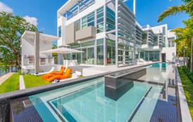 $20 Million Newly Built Modern Waterfront Home In Miami Beach, FL