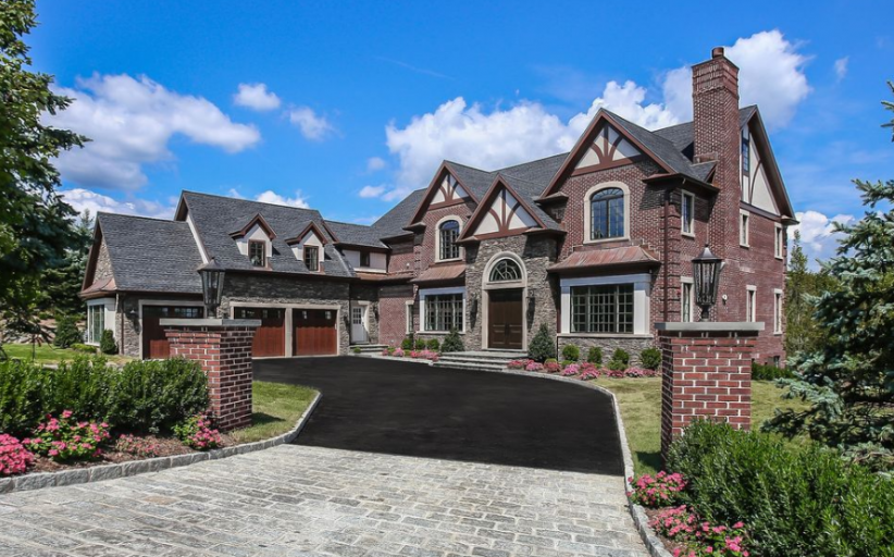 $3.895 Million Newly Built Brick & Stone Mansion In Purchase, NY