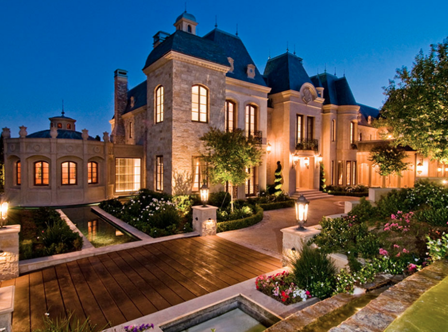 3 Stately French Chateau Inspired Mansions In Beverly