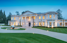 Dawn Hill – A 26,000 Square Foot Newly Built Limestone Mega Mansion In Surrey, England