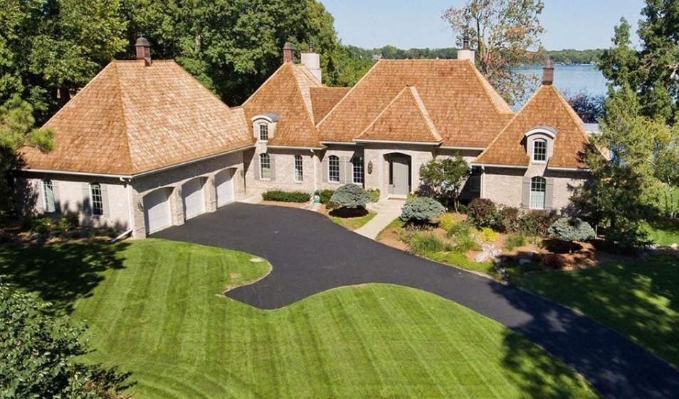 $3.295 Million French Inspired Brick Waterfront Home In Wayzata, MN