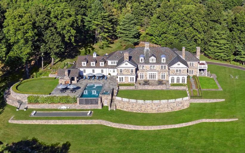 $11.5 Million Stone Georgian Mansion In Greenwich, CT