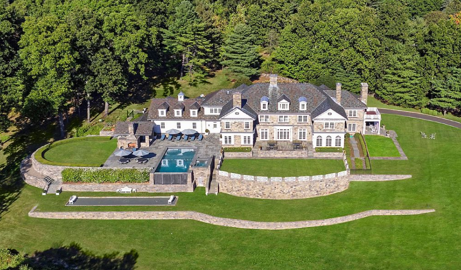 $11.5 Million Stone Georgian Mansion In Greenwich, CT
