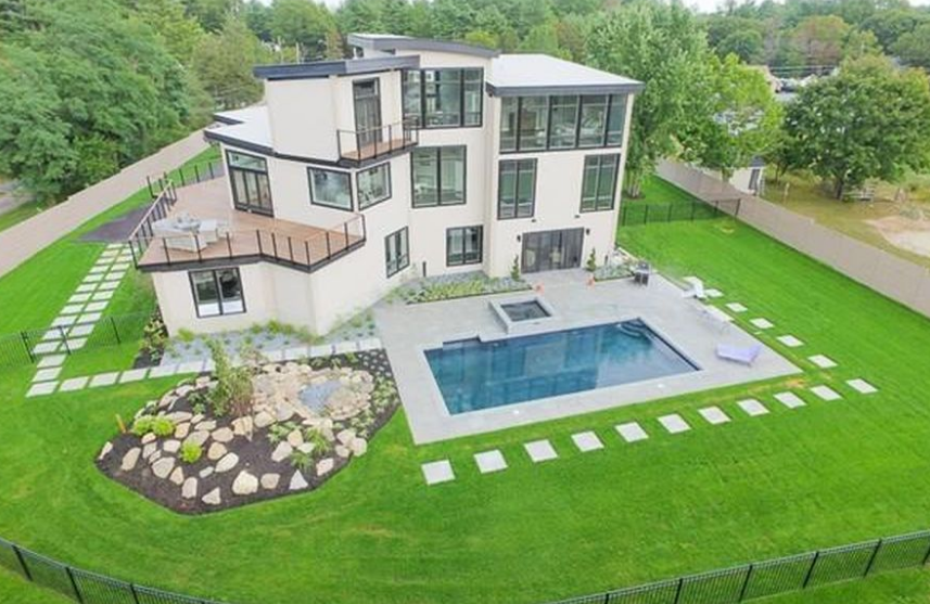 $2.199 Million Newly Built Contemporary Home In Sharon, MA