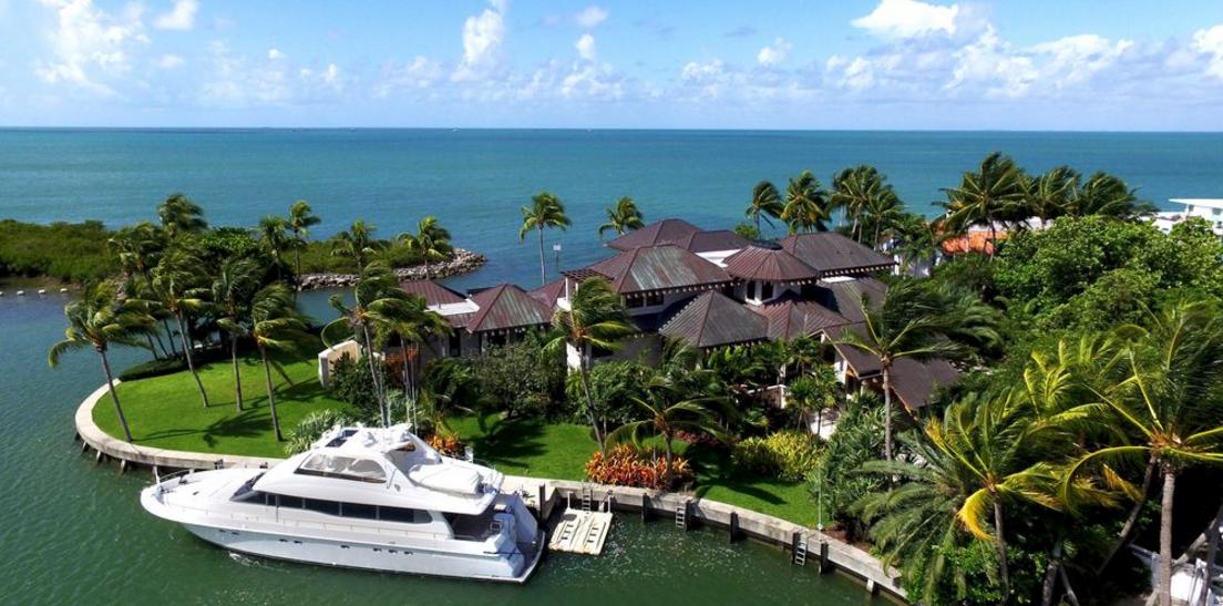 39 Million Waterfront Mansion In Key Biscayne Fl Homes