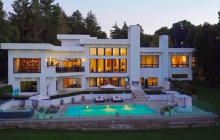 14,000 Square Foot Lakefront Estate In Bloomfield Hills, MI
