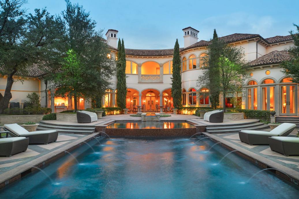 12,000 Square Foot Mediterranean Mansion In Dallas, TX