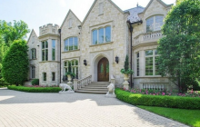 10,000 Square Foot Stone Mansion In Northfield, IL