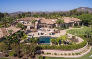 14,000 Square Foot Hilltop Estate In Rancho Santa Fe, CA