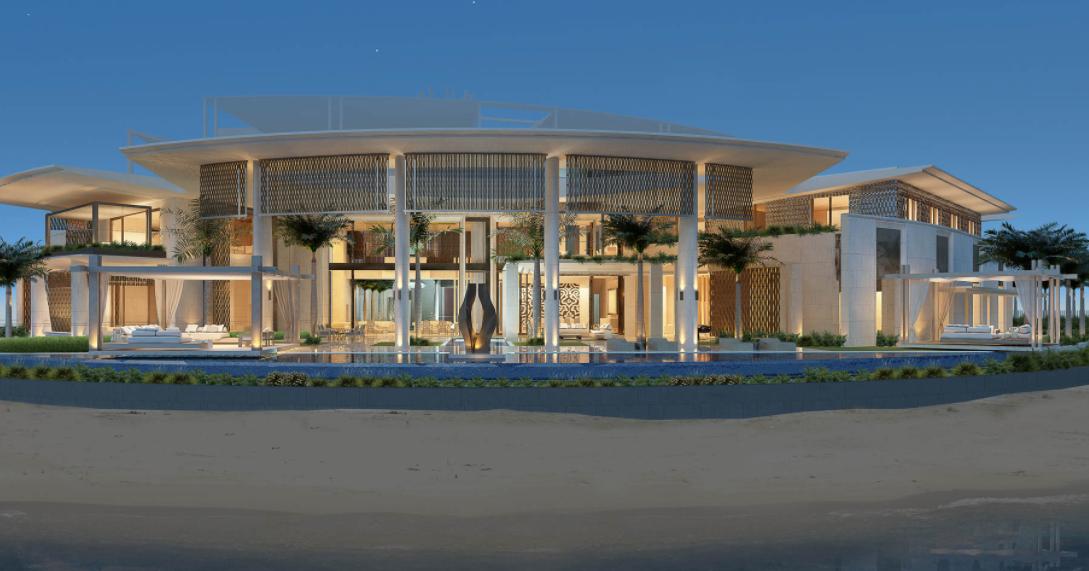 87,000 Square Foot Waterfront Mega Mansion Under Construction In Dubai