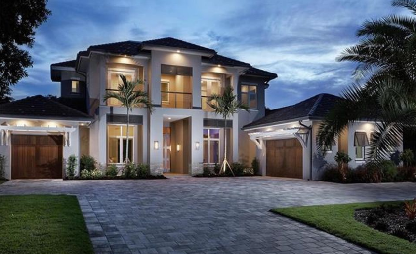 Million newly built modern transitional home in Transitional contemporary