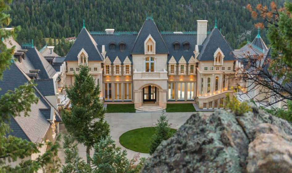 21000 square foot newly built limestone mega mansion in evergreen co - Limestone Home 2016
