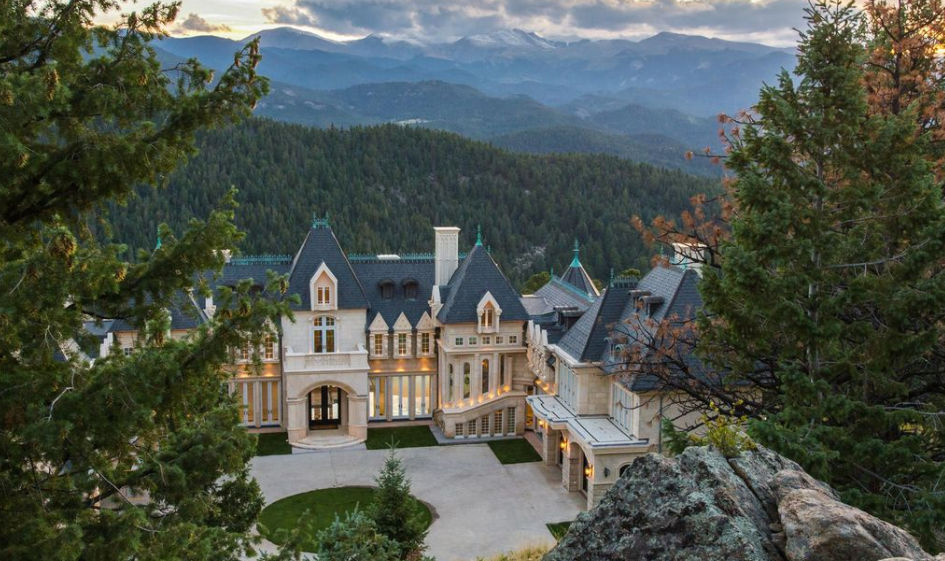 21 000 square foot newly built limestone mega mansion in for Most expensive homes in colorado